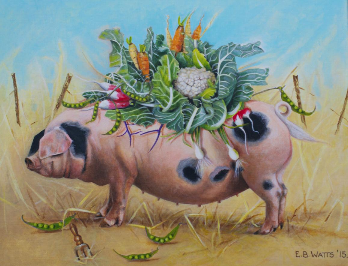 The Piggyback Garden by Artist EBWatts