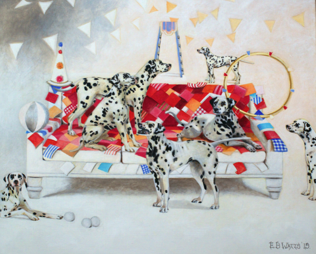 Circus Dalmations Greetings Card © EBWatts