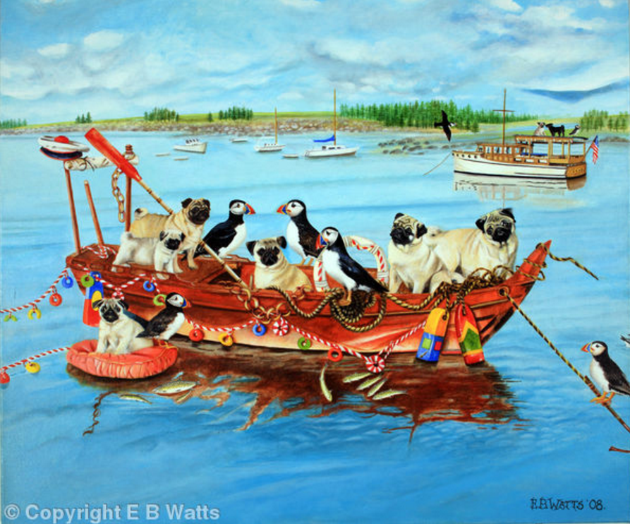 Pugs And Puffins Artist EBWatts