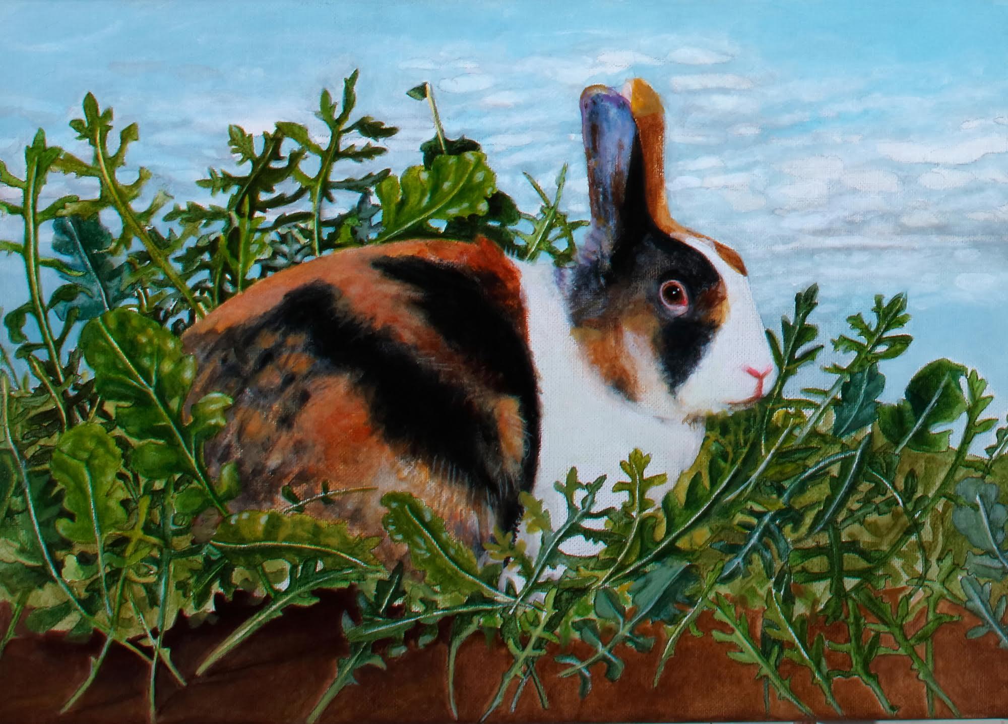 Rabbit with Rocket by Artist EBWatts