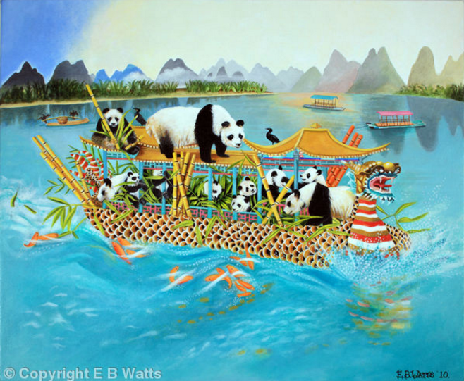 Pandas on a Dragon Boat