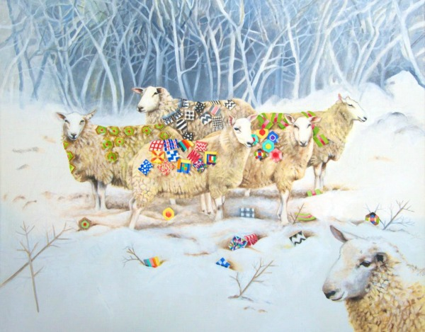 Sheep With Patchwork Jigsaw Puzzle © EBWatts