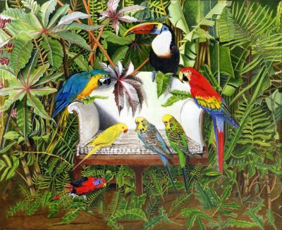 Tropical Birds | Painting by EB Watts