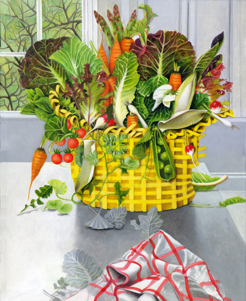 Yellow Basket of Vegetables