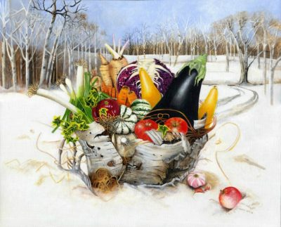 Winter Vegetables | Painting by EBWatts