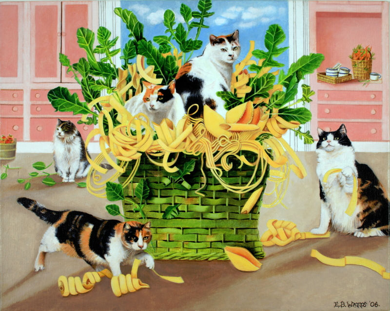 Cats With Pasta