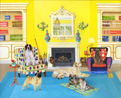 The Dogs' Library Giclee Print