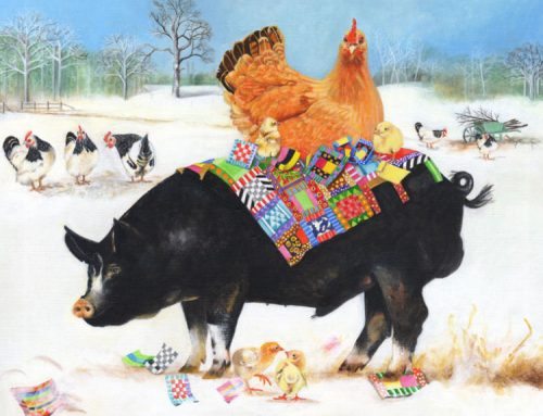 """The Inspiration Behind """"Berkshire Pig with Chickens"""""""