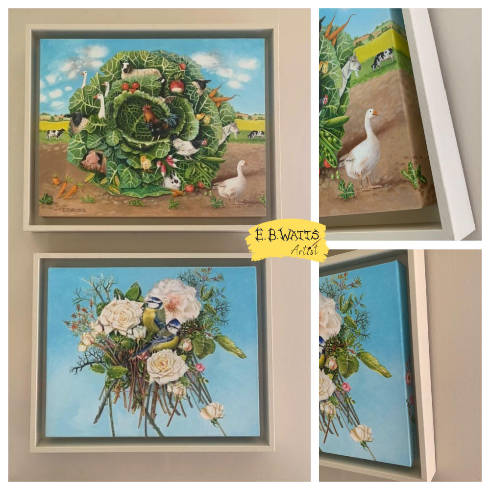 Framed Original Acrylic on Canvas Paintings by EBWatts