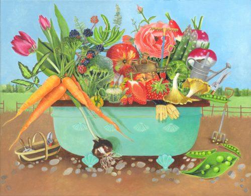 Summer Tub - Original Acrylic Painting